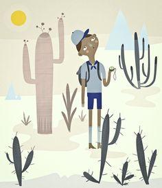 "sarahgoodreau: "" the desert scout. Retro Illustration, Caricature, Artsy Fartsy, Illustrators, Print Patterns, Folk, Art Prints, Drawings, Artwork"
