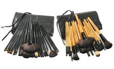 Groupon - Makeup Brush 24-Piece Set with Vegan Leather Case in  missing   e48e9a46db7b
