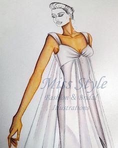 Commissione work in progress  #fashionIllustration #Sketch #Bride by @MissStyleIllustrations