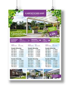 Gardendreams International | Prijslijst poster 2015