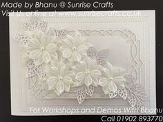 White on White Flower Cluster - sunrisecrafts.co.uk