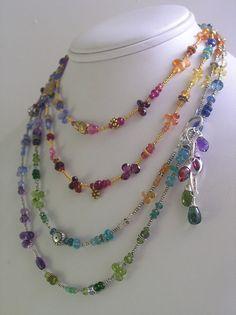 Skinny Jewels...Rainbow Amethyst Tanzanite by bellajewelsII
