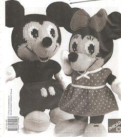 Mickey en Minnie Mouse   Knuffels-breien-en-haken.jouwweb.nl