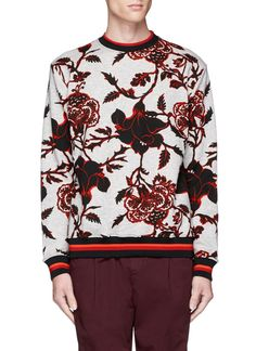 MCQ BY ALEXANDER MCQUEEN Floral Print Cotton French Terry Sweatshirt. #mcqbyalexandermcqueen #cloth #sweatshirt