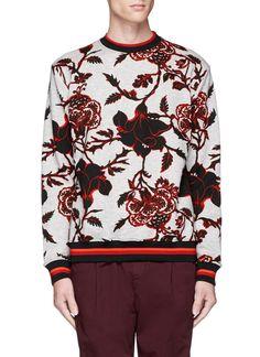 MCQ BY ALEXANDER MCQUEEN Floral Print Cotton French Terry Sweatshirt. #mcqbyalexandermcqueen #cloth #sweatshirt