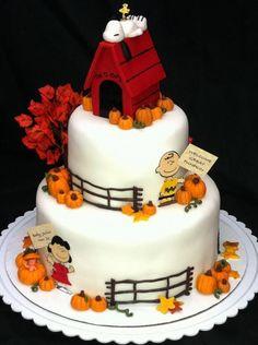 Charlie Brown Fall Cake