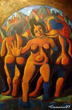 """Antonio Bonilla, """"Las tres gracias"""" (1988). MARTE Museo de Arte de El Salvador by CAMARO27, via Flickr"""