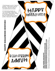 The Paper Socialite: {FREEBIE!} Halloween Bunting to kick off the Halloween season! Happy Halloween Banner, Diy Halloween, Halloween Subway Art, Halloween Bunting, Halloween Labels, Halloween Photos, Halloween Season, Halloween Design, Holidays Halloween