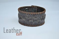 Vintage Genuine Leather Cuff Bracelet, in stoc now! Order at: cureledeceas@gmail.com, +40 737 472 022 Iwc, Watch Model, Leather Cuffs, Seiko, Hand Sewing, Bracelets, Vintage, Jewelry, Sewing By Hand