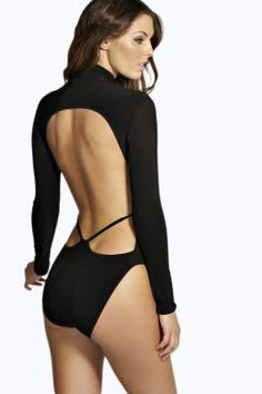 Louise Open Back Strappy Bodysuit at boohoo.com
