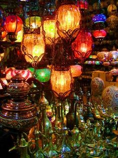 Turkish lanterns are magical!  Love love love!!!