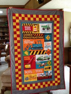 A fun quilt that I know my grandson would love!