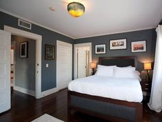 hgtv master bedroom pictures with grey walls | maria bello s master bedroom the master bedroom may not be huge but ...