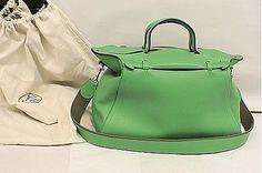 HERMES-Paris-40cm-OXER-Messenger-Duffle-Bag-Fresh-Bamboo-Green-Palladium-NEW
