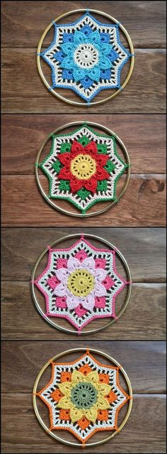 Crochet Crocodile Stitch Mandala Afghan Block - 60+ Free Crochet Mandala Patterns - Page 2 of 12 - DIY & Crafts