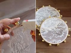 VERY easy DIY Lace Tambourine for gift/wedding
