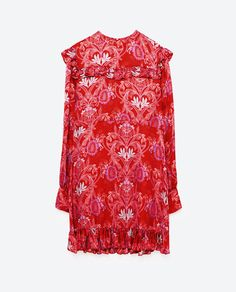 Image 8 of JACQUARD MINI DRESS from Zara