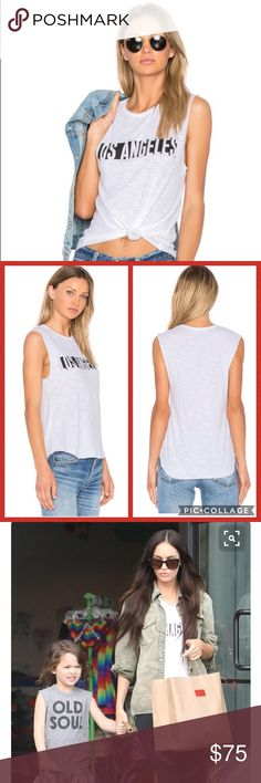 Tyler Jacobs Los Angeles Cut Off Tank Amazing graphic LA tee by Tyler Jacobs. Sold by Revolve. 50% cotton, 50% modal white tank. Screen print graphics. Burnout fabric. Raw cut edges. Measurements available upon request. NWT! NO TRADES! Tyler Jacobs Tops Tank Tops