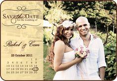 wedding ideas. save the date invitation.
