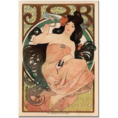 Trademark Fine Art Alphonse Mucha 'Job' Gallery-wrapped Canvas Poster