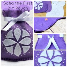 Your Princess can store all her tiny prized positions in her very own Sofia the First DIY Felt Pouch!