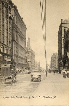 Erie Street from Y.M.C.A. Cleveland, O.