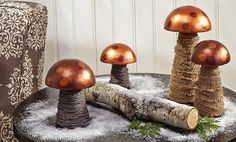 Crafts n' things Weekly - metallic mushrooms