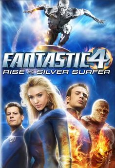 4: Rise of the Silver Surfer movie dvd cover