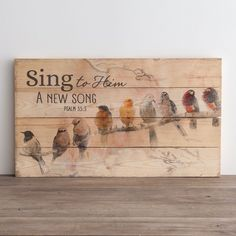 sing to him a new song plank wall art trending wall art from our store and get up to off. You will not find this rare products in any other store, so grab this Limited Time Discount Now! Diy Pallet Wall, Pallet Art, Pallet Walls, Wood Burning Crafts, Wood Burning Patterns, Scripture Wall Art, Bible Art, Scripture Signs, Wood Plank Walls