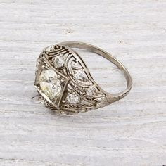 a beautiful, vintage engagement ring.
