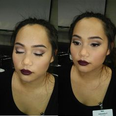 #mua #makeupartist #dark #fallmakeup #wing #makeup #model #photoshoot #glam #highlight #contour #smokey #highfashion #purplelips #vampy #look
