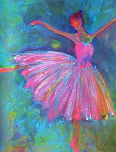 Acrylic Paintings Of Dancers Painting - Ballet Bliss by Deb Magelssen