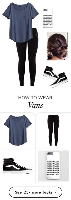 """hang out"" by j7nelleezsb on Polyvore featuring H&M, Vans, women's clothing, women, female, woman, misses and juniors:"