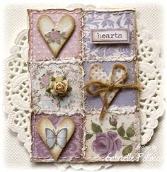 """Such a Pretty Mess: June ATC Theme """"Collage"""" {Dusty Attic Challenge} Gabrielle Pollacco Atc Cards, Card Tags, Inchies, Shabby Chic Art, Etiquette Vintage, Artist Trading Cards, Heart Cards, Quilting Designs, Quilt Design"""