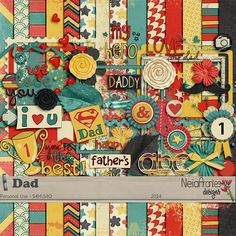 Dad full kit freebie from Neia Arantes Designs