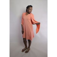Couture Knit Draped Cardigan and Dress