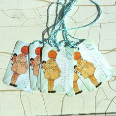 Visiting the Eiffel Tower Gift Tags Set of 6. $2.50, via Etsy.