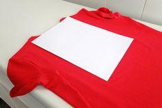 dobrando roupas molde