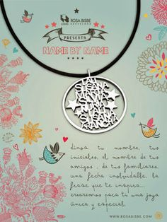 Rosa Bisbe: tu nombre hecho joya Decorative Plates, Jewelry, Design, Pink, Make Jewelry, Initials, Names, Advertising, So Done