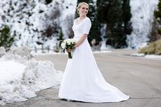 Real Bride: Annie, Wedding Gown with Sleeves, Silk Taffeta Wedding Gown, A-Line Wedding Gown, A-Line Wedding Gown with Sleeves, Nancy Barrus Custom Couture, LDS Wedding Salt Lake Temple, Avenia Bridal