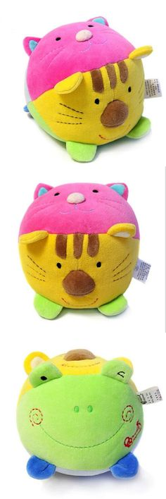 21b0af01c191 Cute Baby Toy Soft Plush Teether Baby Musical Crib Mobiles Rattle Ring Bell  Animal Newborn Infant Early Educational Doll