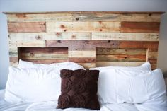 DIY Pallets Headboard is Incredible Idea | Recycled Pallet Ideas