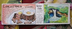 loco moco #art #journal #hawaii #travel #moleskine, journal, travel journal, doodle, pen & ink