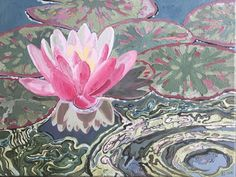 Water Lily – oil on canvas – x The Quiet Miracle of June to 3 July 2019 Michael Krief Gallery, Solana Beach, California – Lizza Littlewort Solana Beach, Oil On Canvas, June, Lily, African, California, Gallery, Water, Artist