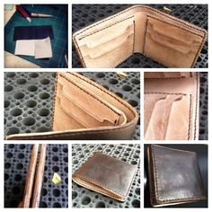 handmade vegetable tanned leather wallet