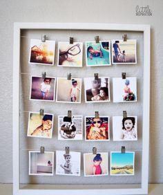 dicas de porta retratos criativos