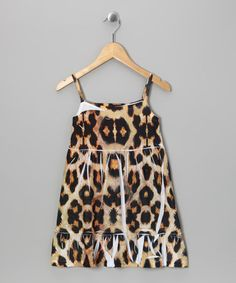 Take a look at this Brown Leopard Ruffle Dress - Girls by Girls' Blow-Out on #zulily today!