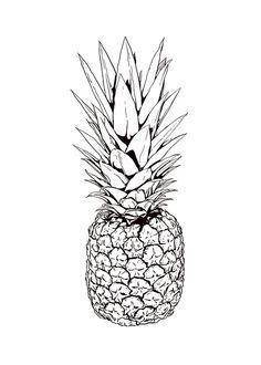 Poster med illustration av ananas...