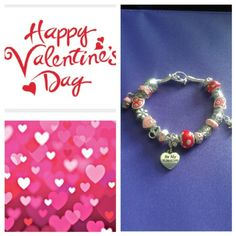 Valentine's Day Charm Bracelet Super cute and a perfect gift for someone. ??? Jewelry Bracelets