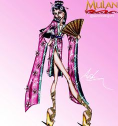 'Mulan' Disney Princess Couture Collection by @aaronrodrigo15  Be Inspirational ❥ Mz. Manerz: Being well dressed is a beautiful form of confidence, happiness & politeness
